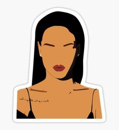 Rihanna stickers featuring millions of original designs created by independent artists. Rihanna, Funny Stickers, Laptop Stickers, Logo Stickers, Cute Canvas Paintings, Canvas Art, Overlays, Tumblr Png, Pop Art Girl