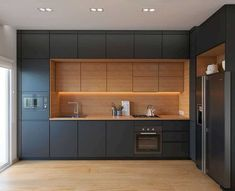 38 The Best Modern Kitchen Cabinets Perfect For Any Kitchen Design - Home Design Kitchen Room Design, Design Room, Kitchen Cabinet Design, Modern Kitchen Design, Interior Design Kitchen, Diy Kitchen, Kitchen Decor, Kitchen Designs, Kitchen Ideas
