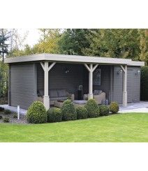 Shed Plans - Abri de jardin : grand et moderne.m-habitat. - Now You Can Build ANY Shed In A Weekend Even If You've Zero Woodworking Experience! Bungalow, Shed With Porch, House Yard, Shed Roof, Shed Homes, Garden Buildings, Exterior, Outdoor Living, Outdoor Decor