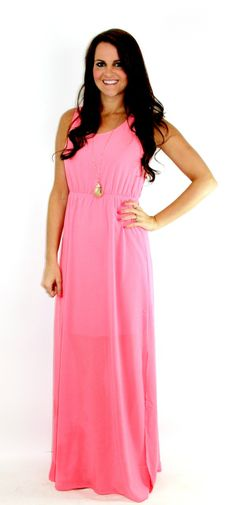 Amour Boutique - Lovely Seaside- Coral Maxi Dress, $38.00 (http://www.shopamourboutique.com/lovely-seaside-coral-maxi-dress/)