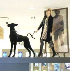 Dog mannequins are nice fashion accessories