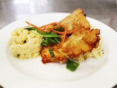 Denné menu Vranov | Rybie filé v zemiakovom cestíčku, slovenský šalát - reštaurácia Hotel Patriot*** #hotel #restaurant #food