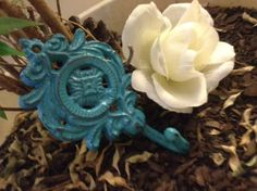 Wall Hook Cute Shabby Chic Hook/Hanger by LaBellasCottage on Etsy, $6.25