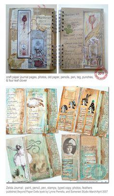 art journal inspiration ~ WOW ~ michelle ward
