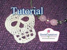 Tutorial 17. * Teschio all'Uncinetto Halloween * . How to Crochet Skull ...