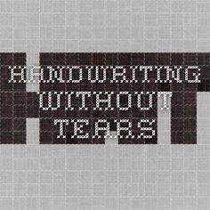 handwriting without tears writing guides