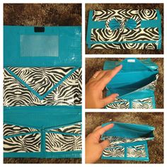 DIY blue and zebra Duct tape wallet