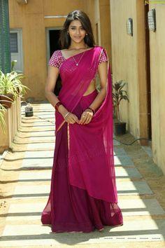 Pooja Jhaveri Glam Stills - Dwaraka Movie Heroine Pooja Jhaveri Photos Beautiful Girl Indian, Most Beautiful Indian Actress, Beautiful Saree, Most Beautiful Women, Saris, Beauty Full Girl, Beauty Women, Saree Photoshoot, Indian Girls Images
