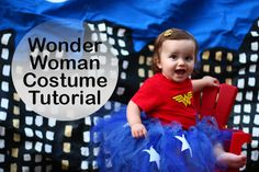 Little Wonder Woman costume tutorial - so cute and easy via The Mom Creative