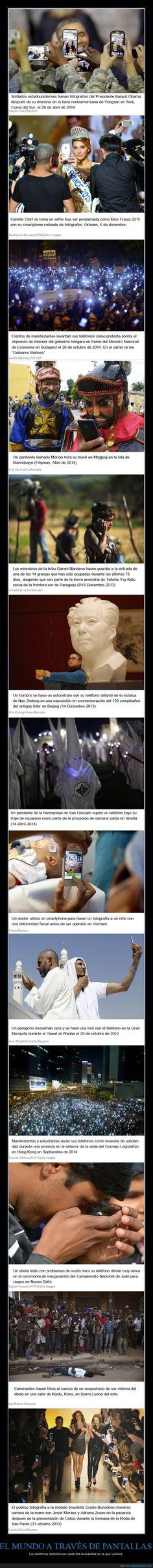 EL MUNDO A TRAVÉS DE PANTALLAS