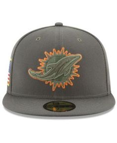 New Era Miami Dolphins Salute To Service 59FIFTY Fitted Cap - Brown 6 7/8