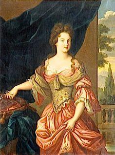 1690s - Marie Anne de Bourbon, Duchess of Vendôme by Hippolyte Flandrin in 1839 after Pierre (?) Mignard