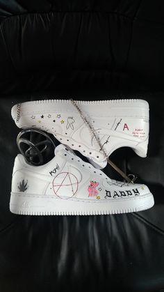 Lil Peep Merch, Lil Peep Tattoos, Lil Peep Lyrics, Lil Peep Beamerboy, Lil Peep Hellboy, Painted Canvas Shoes, Nike Air Shoes, Aesthetic Shoes, Hype Shoes