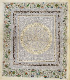 feast your eyes on this beautifully decorated page in colour from The 'Lisbon Bible' vol. 3 Or 2628 Medieval Manuscript, Illuminated Manuscript, Illumination Art, Page Borders, Art Costume, Beautiful Calligraphy, Floral Border, Lisbon, Art Lessons