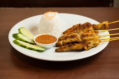 Main Dishes - Satay with rice