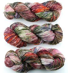 Hand dyed yarn  80 / 10 / 10%  Super wash Merino by WrenHouseYarns