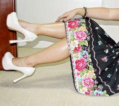 Cassie Thriftier: VINTAGE MONDAY: THE FLORAL PRINT SKIRT 18-8-2014
