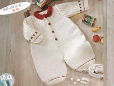 Modèle tricot layette : la grenouillère Le goûter