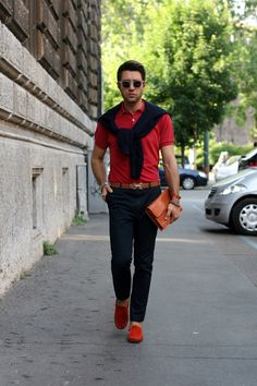 Red is my favorite colors. Love the red suede shoes.    MenStyle1- Men's Style Blog