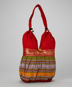 2b2521ed72c4 Lakhay s Collection Bright Red Love Festive Hobo