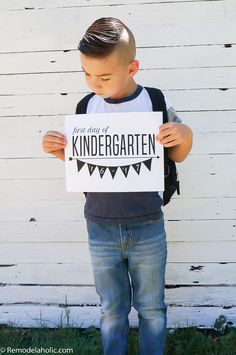 First Day of School Sign  Free Printable  The best of
