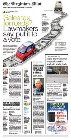 """Sales tax for roads? Lawmakers say, put it to a vote."" Today's front page on the last Friday of 2012."