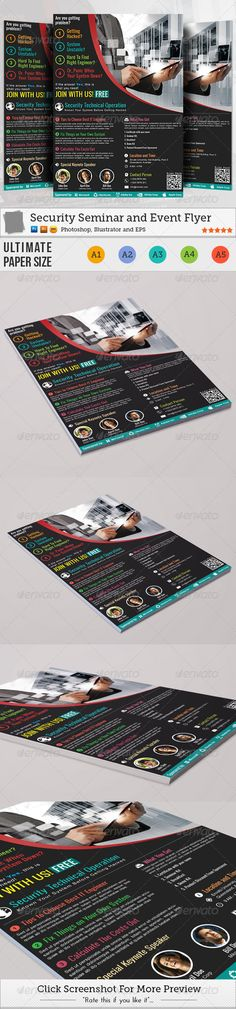Seminar Flyer Templates  Flyer Template Template And Flyer Layout