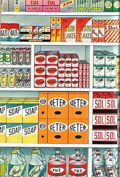 Wel heel gaaf om in een oude supermarkt te wonen!