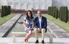 The Duke and Duchess of Cambridge sat on the same bench at the end of a week-long royal to...