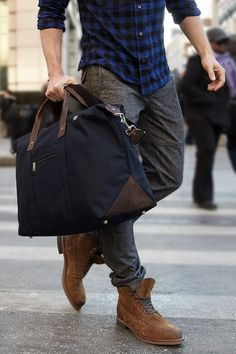 Combine Grey pants and black bag. I like the shirt and outfit. Not crazy about the bag. #menfashion #fashionista #bag #outfit