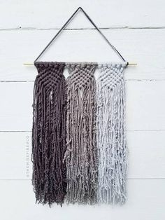 Custom Macrame Wall Hanging -This woven like wall hanging is reminiscent of friendship bracelets of our youth, but all grown up! Perfect wall decor for the mordern minimalist home or nursery, boho farmhouse, or college dorm. >>>DETAILS<<< ▪10