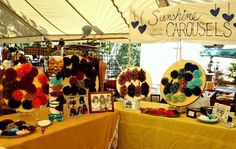 craft show display (bows & embroidery hoops)
