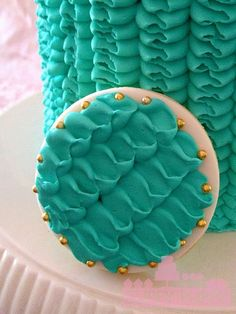 ruffle cookie by Cuppy Puppy Mommy Joanna, via Flickr