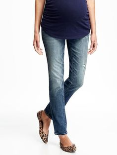 Maternity Full-Panel Skinny Jeans $39.94     ☆☆☆☆☆ ☆☆☆☆☆ 2.8 out of 5 stars. Read reviews.  Everyday Steal! Color: Destructed Wash