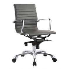 Omega Office Chair Low Back Grey-Set Of Two | Memoky.com