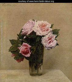 Roses Roses - Ignace Henri Jean Fantin-Latour - www.henri-fantin-latour.org