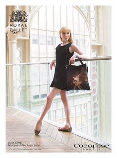 Sarah Lamb, Principal of The Royal Ballet, Models Cocorose London's Enchanted World tote bag and Juliet Foldable Shoes
