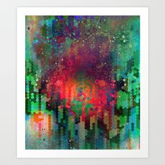 Copy & Paste the Big Bang Art Print by Work the Angle - $17.00 #abstract #art #design