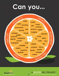 Blooming Orange: Bloom's Taxonomy Helpful Verbs Poster Teaching Strategies, Teaching Tips, Thinking Skills, Critical Thinking, Teacher Tools, Teacher Resources, Blooms Taxonomy Poster, Higher Order Thinking, Words To Use