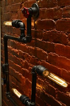 Steampunk Industrial Pipe Wall Light Wall by WestNinthVintage
