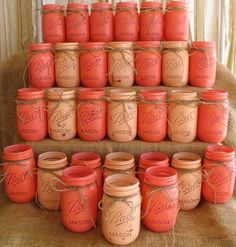 DIY Painted Mason Jars.