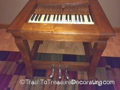 Trash to Treasure Decorating: What to Do With an Old Piano - Upcycled Project