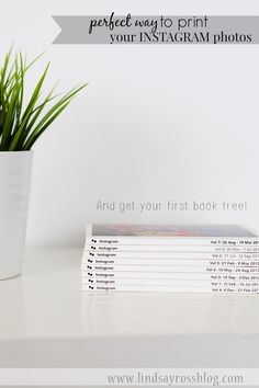 The PERFECT solution to printing all your Instagram photos. 6x6 books that INCLUDE your captions. And you can get your first book FREE with this code. YES!!!