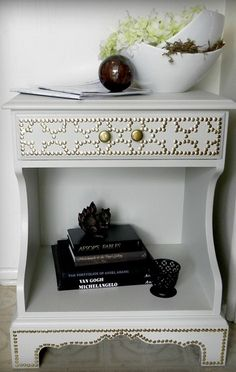 Dress up furniture with nail head trim!