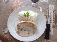 Boudin blanc à la crème et aux champignons - Recette de cuisine Marmiton : une recette