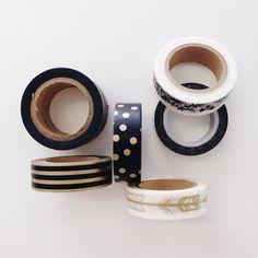 Black and gold washi tape from @cottoncandi_za