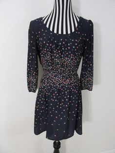 Cooperative Navy Blue Long Sleeve Geometric Dress Size L #Cooperative
