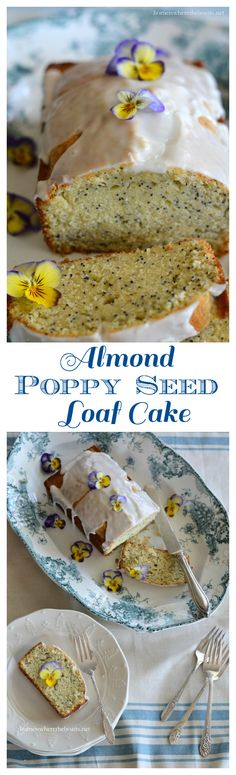 Almond Poppy Seed Loaf Cake with Almond Glaze | homeiswheretheboatis ...