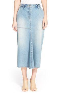 Women's Tibi High Waist Denim Midi Skirt