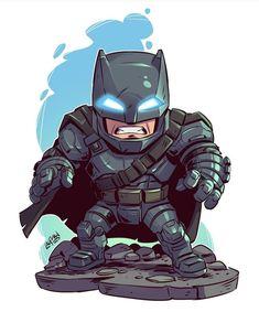 Armored Batman Chibi by Derek Laufman